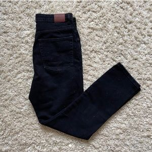 Mid Rise Black Jeans from Zara
